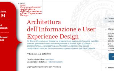 Master in architettura dell'informazione – Intervista a Federico Badaloni