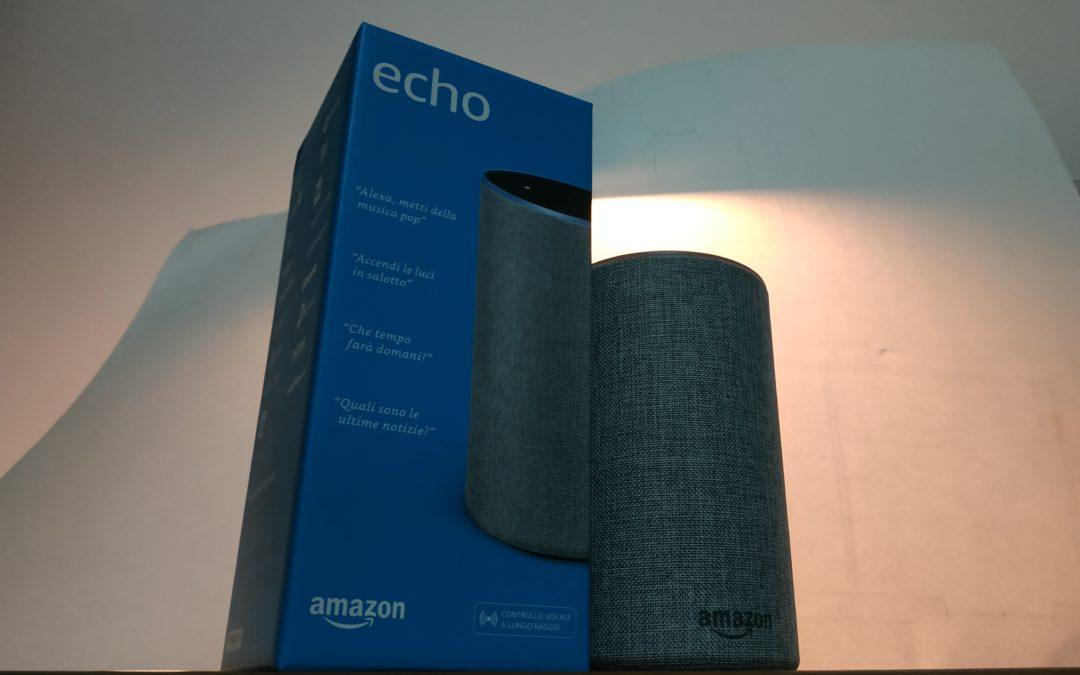 Amazon Alexa Echo a  casa mia. Le prime prove e impressioni.